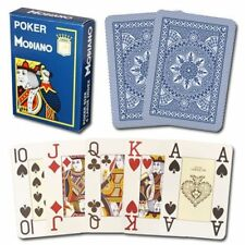 Modiano Cristallo Plastic Playing Cards, 4 Pip Jumbo Index, Dark Blue