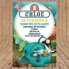 Personalised OCTONAUTS Kids Party Invitation Invites DIGITAL - YOU PRINT -