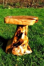 Rustic cedar tree root wooden stool