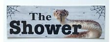The Shower Snake Bathroom Outback Sign Door Rustic Wall Plaque Hanging Country
