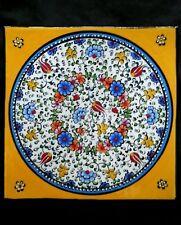 "Vintage Öz Gaglar Turkey hand enamelled pottery dish 9"""
