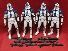 Star Wars Saga Collection................501st CLONE TROOPERS x4