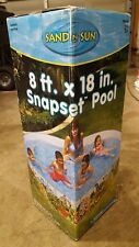 Intex Sand N Sun Snapset Kids Pool 8 ft x 18 in Round Jungle Forest Animal Theme