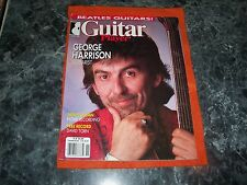 GUITAR MAGAZINE nov.1987 george harrison COVER EXC. with free david torn record