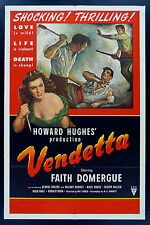 VENDETTA * CineMasterpieces 1SH ORIGINAL MOVIE POSTER FILM NOIR 1950 KNIFE