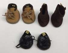 Build A Bear BABW Boys Shoe Lot Three Pair Cowboy Boots Work Boots Shoes