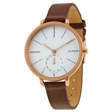 SKAGEN Hagen Marrón Cuero Reloj de Señoras SKW2356-Garantía De 2 años