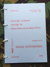 IWS NIGHT SIGHT PAMPHLET SCOPE STARLIGHT NIGHTSIGHT NORTHERN IRELAND FALKLAND