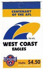 1996 AUSTRALIAN STAMP BOOKLET AFL CENTENARY WEST COAST 10 x 45c STAMPS MUH