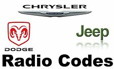 Chrysler Jeep & Dodge Radio Decoding QUICK RESPONSE