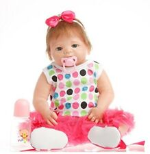 SanyDoll Reborn Baby Girl Doll 22 Inch Magnetic Lifelike Doll