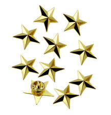 10pcs Metal Gold One Star Pin Insignia Army Military Badge for Shoulder Epaulets