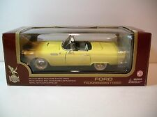 NIB 1:18 Road Legends Yellow 1955 Ford Thunderbird Die-cast By Yat Ming