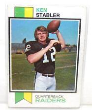 1973 Topps Football Card #487 KEN STABLER Oakland Raiders (HOF) VG 4.0