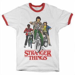 T-Shirt Stranger Things Bikes Ringer Tee Men's Sweater Official Hybris