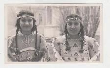 Rppc,Native American Beaded Dresses,2 Women Wearing the Dresses,c.1945-50s