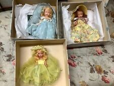 Lot of 3 Nancy Ann Bisque StoryBook Dolls Original Boxes And Near Mint