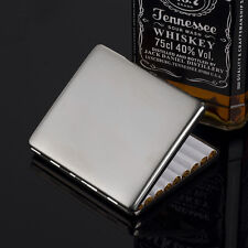 KUBOY brushed stainless steel metal cigarette case holds 9 cigarettes KC6-01