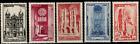 France Série des timbres N° 663 à 667 Neuf **