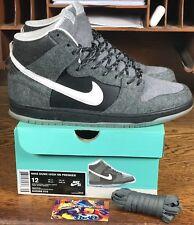 """Nike Dunk High SB Premier """"Petoskey"""" Black/Grey (645986-010) Mens Shoe Size 12"""