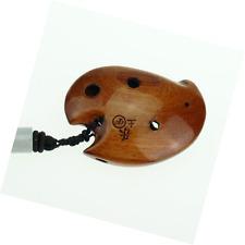 6 hole wooden ocarina elm locust wood SSF,Exquisite Design,Mini Wooden Ocarina