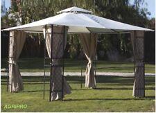 Gazebo giardino mt 3,4 x 3,4 metallo con tenda laterale copertura impermeabile