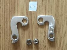 No 20  REAR DERAILLEUR BICYCLE ALLOY GEAR HANGER DROP OUT & BOLTS