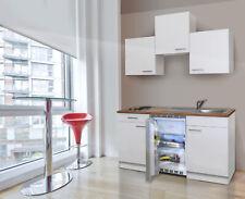 Küche Miniküche Singleküche Küchenzeile Einbau Küchenblock 150 cm weiß respekta