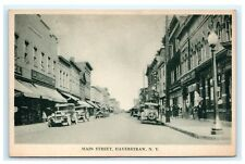 Main Street Haverstraw NY Rockland County New York Postcard Old Cars Signs C6