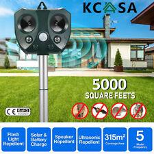 KCASA Solar Ultrasonic Animal Repeller PIR Motion Sensor Pest Bird Repellent