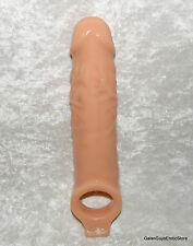 Mamba Flesh Male Penis Extender Thick Sleeve Slip On Condom Cover  Ball Stap TPE
