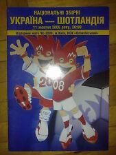 Programme Ukraine - Scotland 2006 VERY RARE