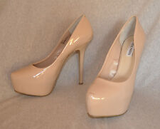 "Steve Madden ""Babylonn"" Nude Patent Hi-Heel Pumps - Size 11, 6"" heel 2"" plat New"
