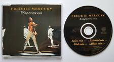 ⭐⭐⭐⭐ Living On My Own ⭐⭐⭐⭐ Freddie Mercury ⭐⭐⭐⭐ 4 Track CD 1993 ⭐⭐⭐ Queen ⭐⭐⭐⭐