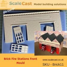 Model Railway FIRE STATION Mould - Building Front - BRICK 11