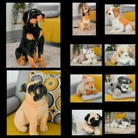 DOG ORNAMENT COLLECTIBLE ANIMAL SOFT TOY STUFFED CUTE HUGE LARGE PRESENT GIFT