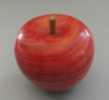 Vintage Polished Alabaster / Marble Fruit - Apple