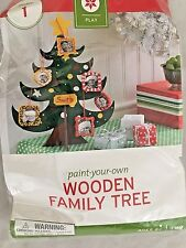 """Paint Your Own 10"""" Wooden Family Tree Kit"""