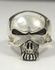 Sterling Silver Skull Alien Head Ring Sz 11 Heavy 925 Antiqued NEW NO RESERVE !!