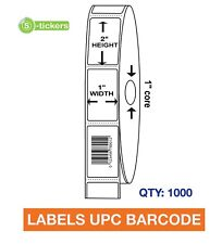 1000 Labels Upc Barcode Codes Numbers 1x2