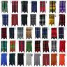 CC Solid Plain Black, Royal Stewart Tartan Many More Kilt Flashes Multi Colours