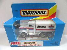 Matchbox Superfast 5e Peterbilt Tanker - White 'AMOCO' - Mint/Boxed