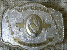 Grand Champion State of  California 1993 BROKEN HORN Trophy Silver Buckle