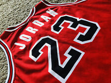 Michael Jordan Chicago Bulls Champion Europe 1992 NBA Jersey Red Mens Sz XL