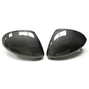 Real Carbon Fiber Addon Wing Mirror Cover Trim Fit For Porsche Macan 2015-2018