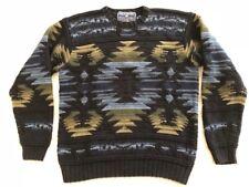Vtg POLO RALPH LAUREN Medium Hand Knit AZTEC NAVAJO Southwestern SWEATER