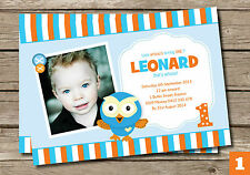 GIGGLE & HOOT HOOTABELLE BOY BIRTHDAY PARTY SUPPLIES PERSONALISED INVITATION
