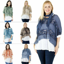 Floral 100% Cotton 3/4 Sleeve Tops for Women