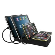 Qi Wireless Fast Charging Charger Dock Stand 3 USB For iPhone Samsung Tablets