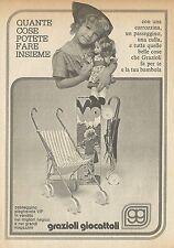 X4706 Graziosi giocattoli - Passeggino pieghevole VIP - Pubblicità 1975 - Advert